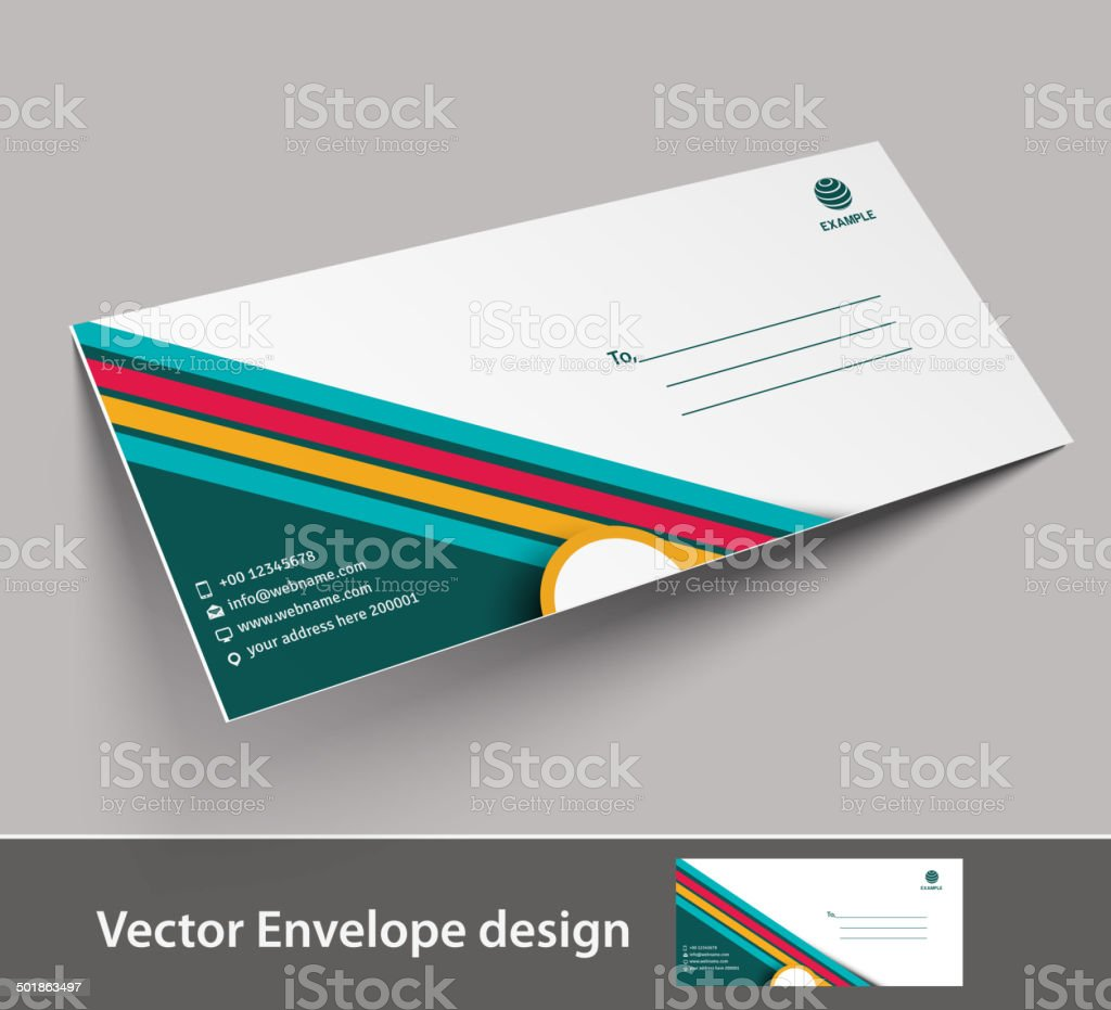 Paper envelope royalty-free stock vector art
