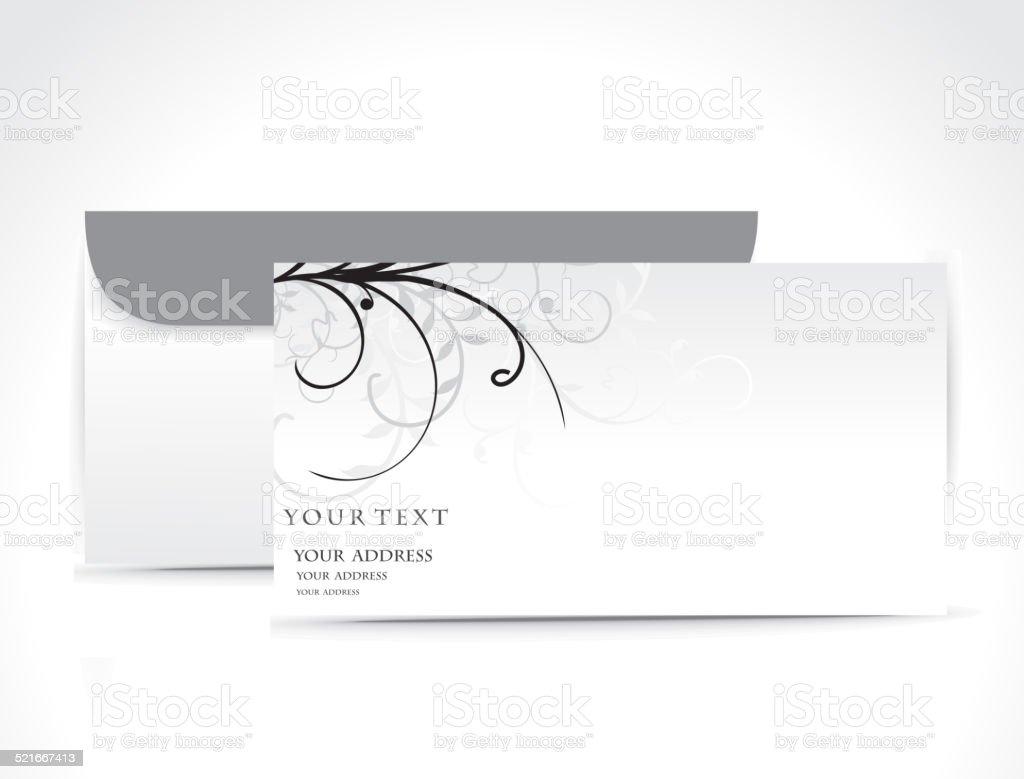 Paper envelope vector art illustration