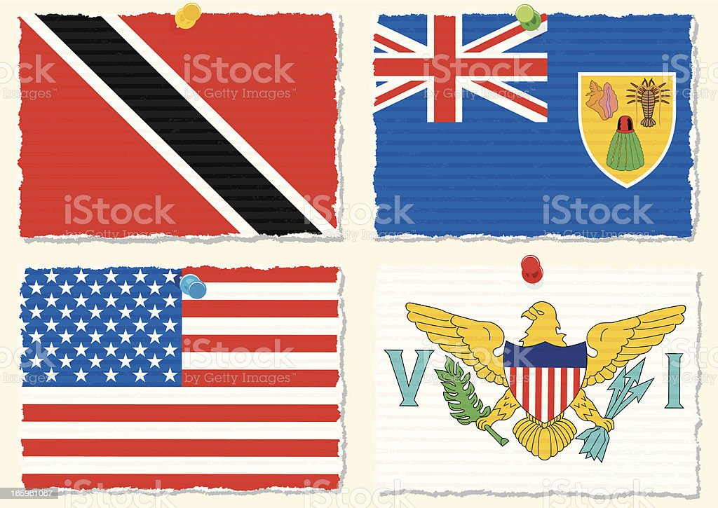 Paper Flags royalty-free stock vector art