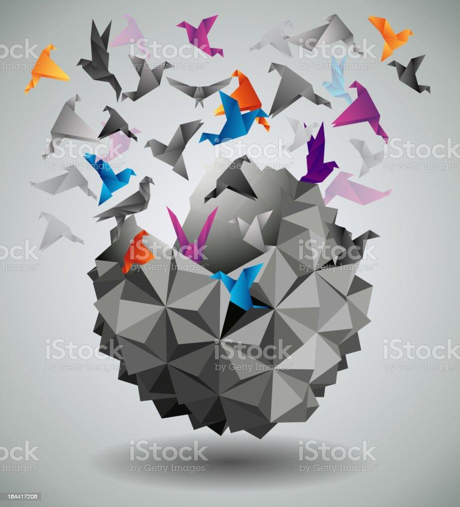 Paper Freedom. vector art illustration