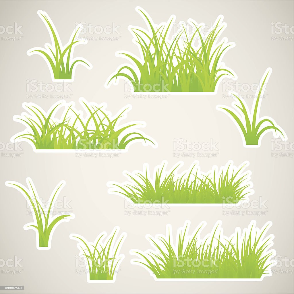 Paper grass royalty-free stock vector art