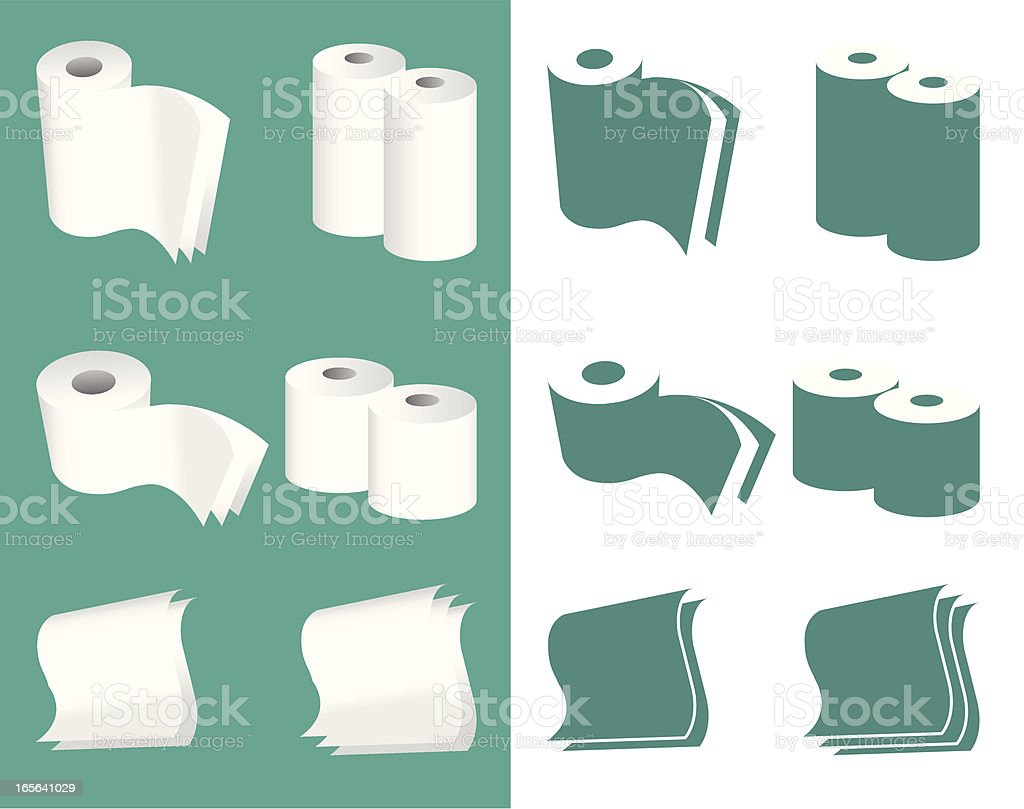 paper group vector art illustration