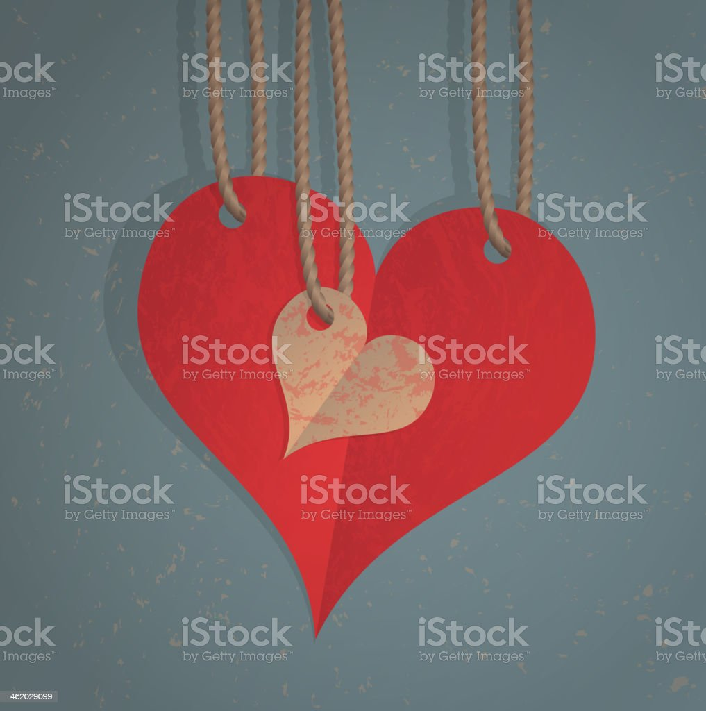 Paper hearts royalty-free stock vector art