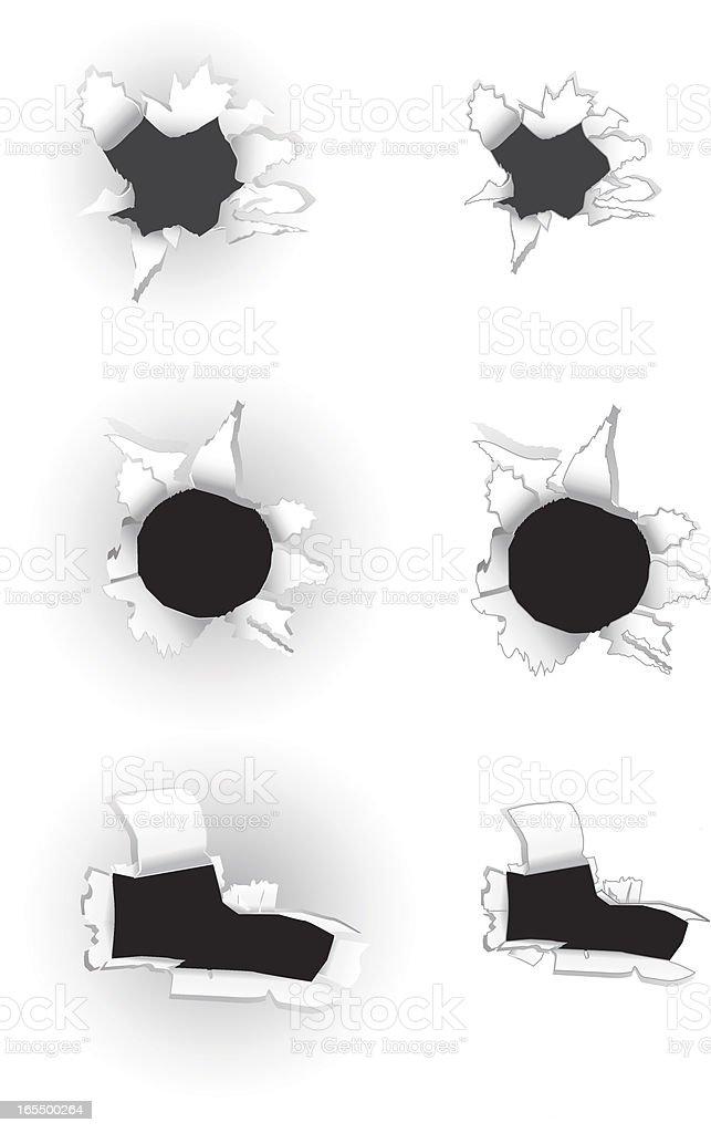 Paper Holes royalty-free stock vector art