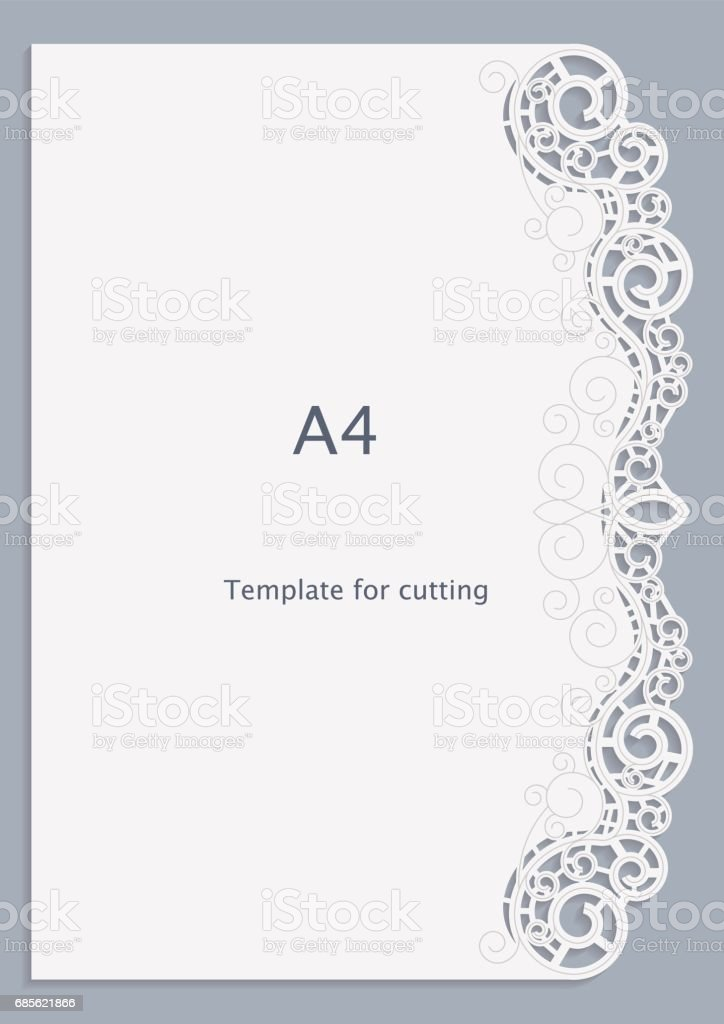 A Paper Lace Greeting Card White Pattern Cutout Template Template