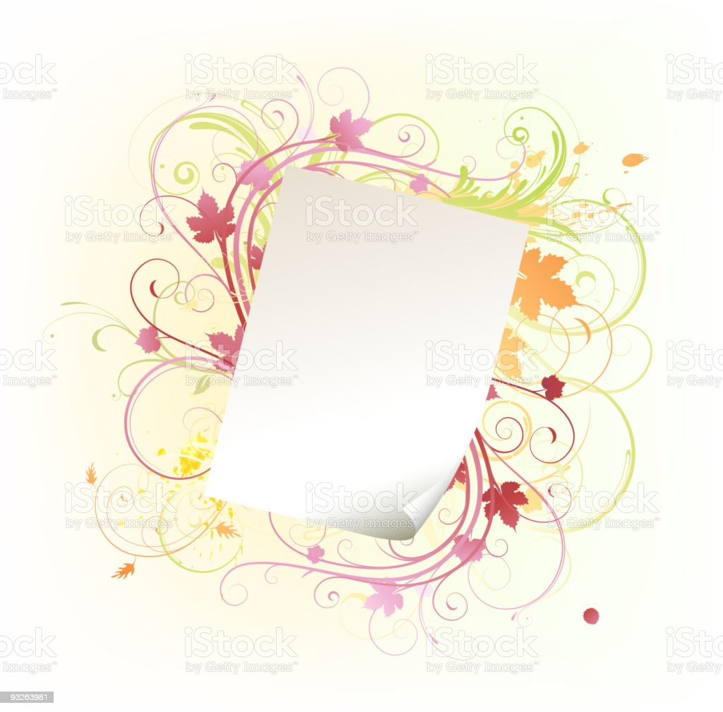 paper leaf frame royalty-free stock vector art