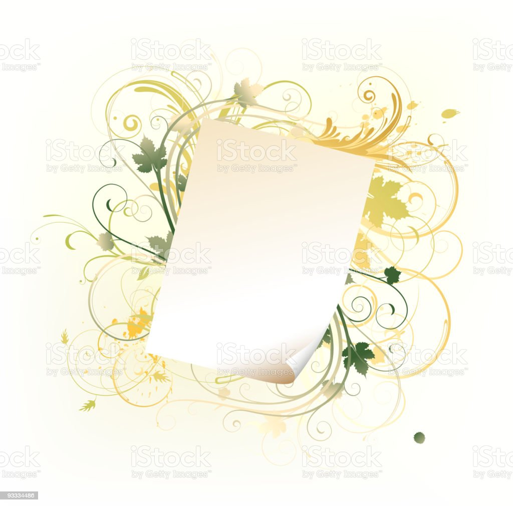 paper leaf frame royalty-free stock vector art
