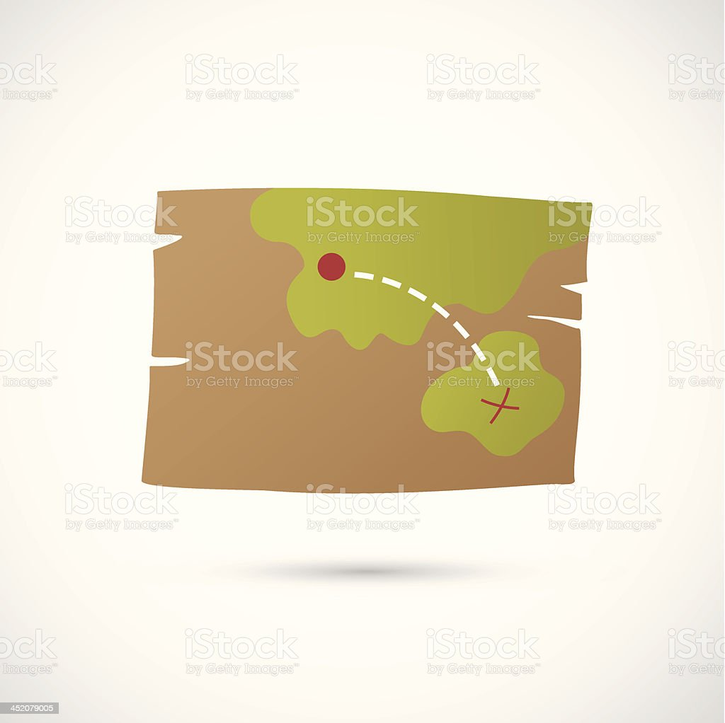 Paper map royalty-free stock vector art