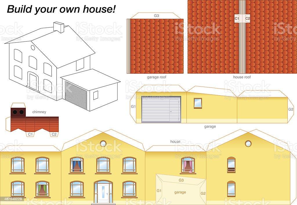 Как сделать дом из бумаги картинки