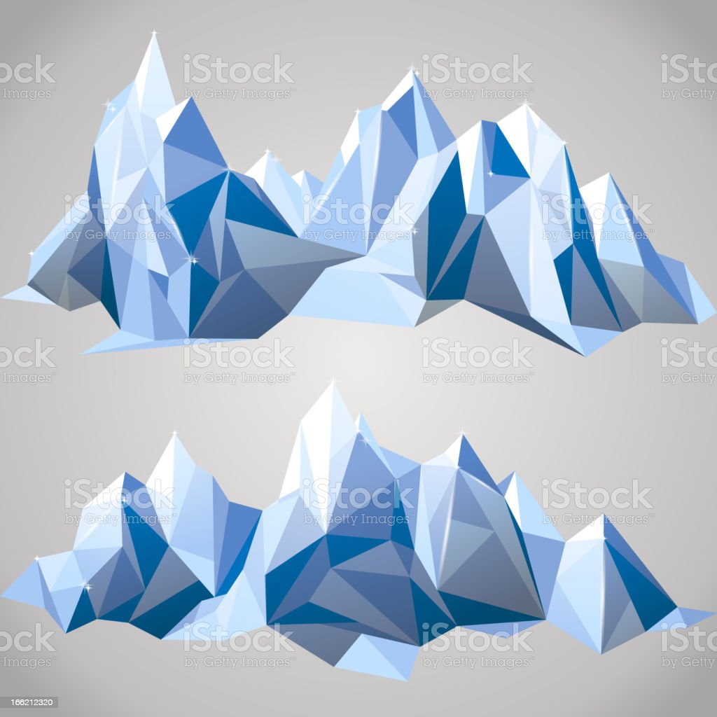 paper mountains royalty-free stock vector art