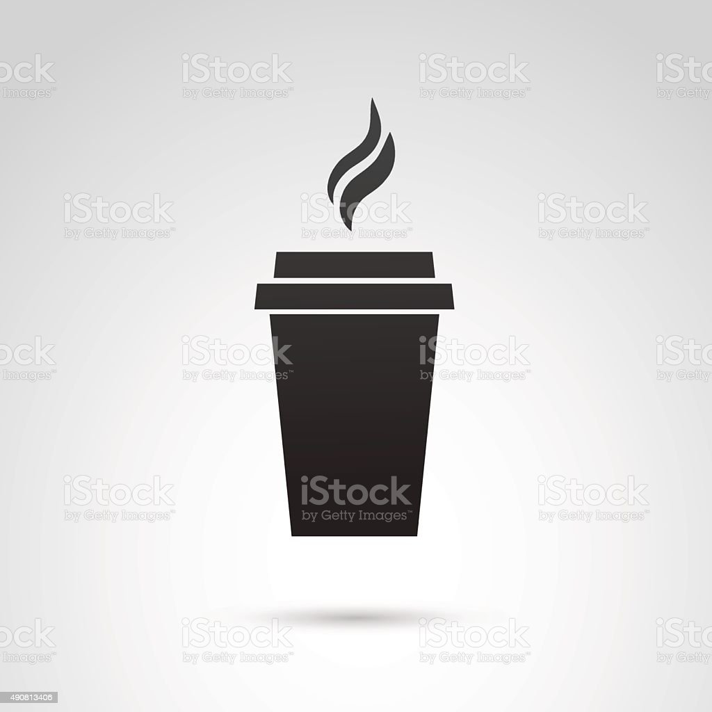 Paper mug icon. vector art illustration