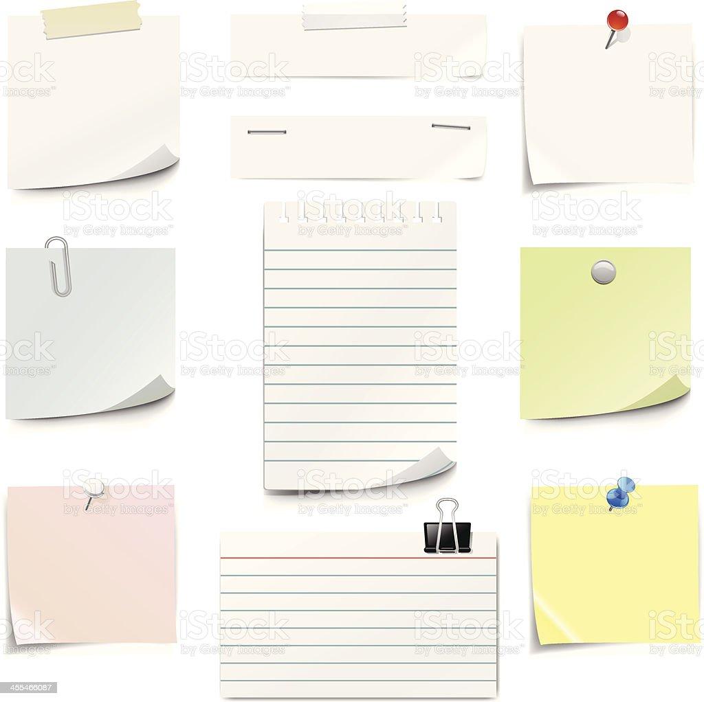 Paper Notes vector art illustration