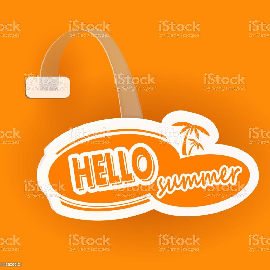 Paper orange wobbler  with celluloid stand. Vector illustration vector art illustration