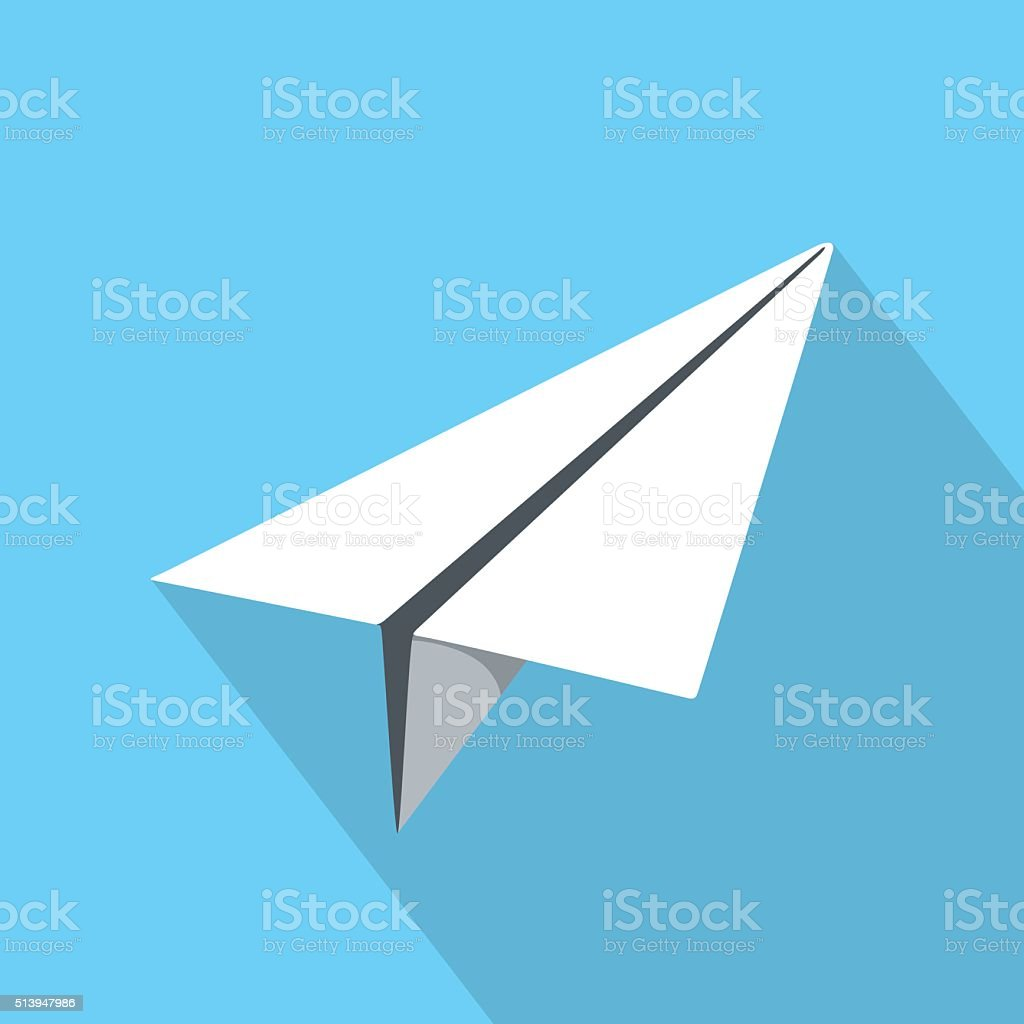 Paper Plane Icon vector art illustration