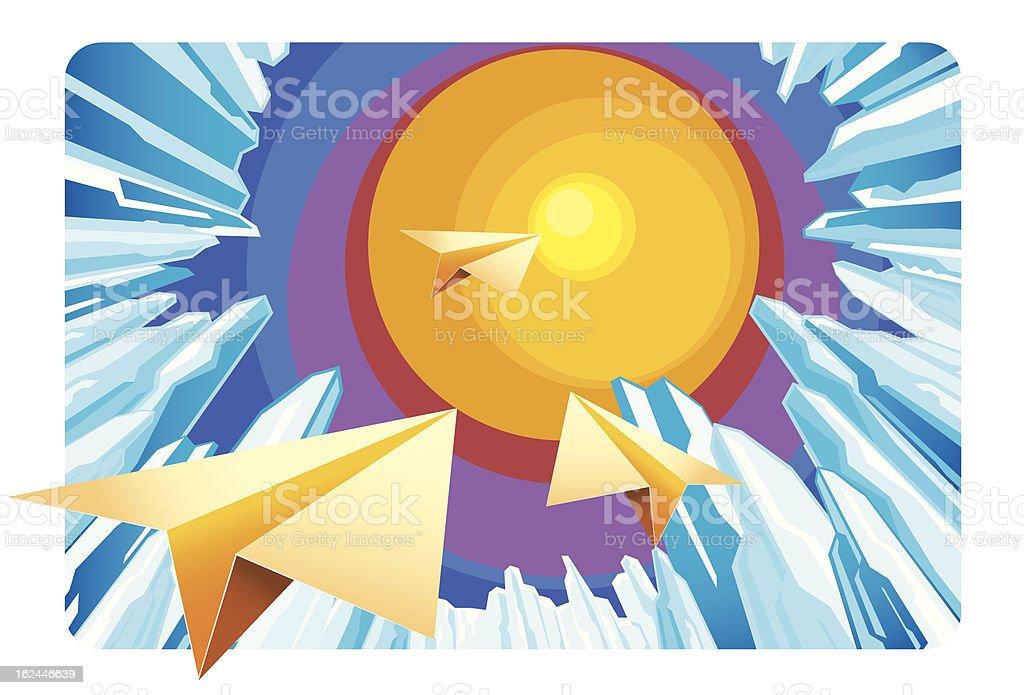 paper plane royalty-free stock vector art