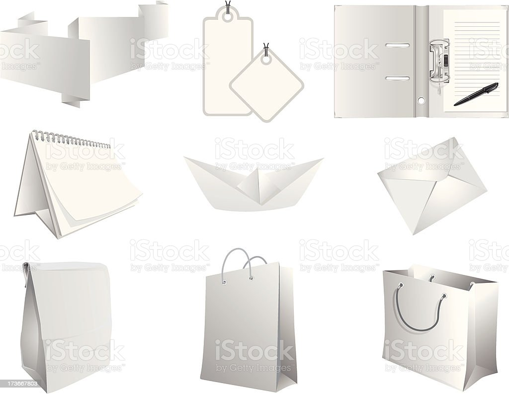 paper products vector art illustration