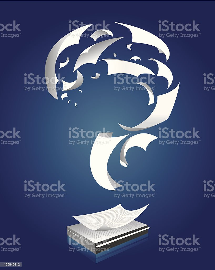 Paper question mark royalty-free stock vector art