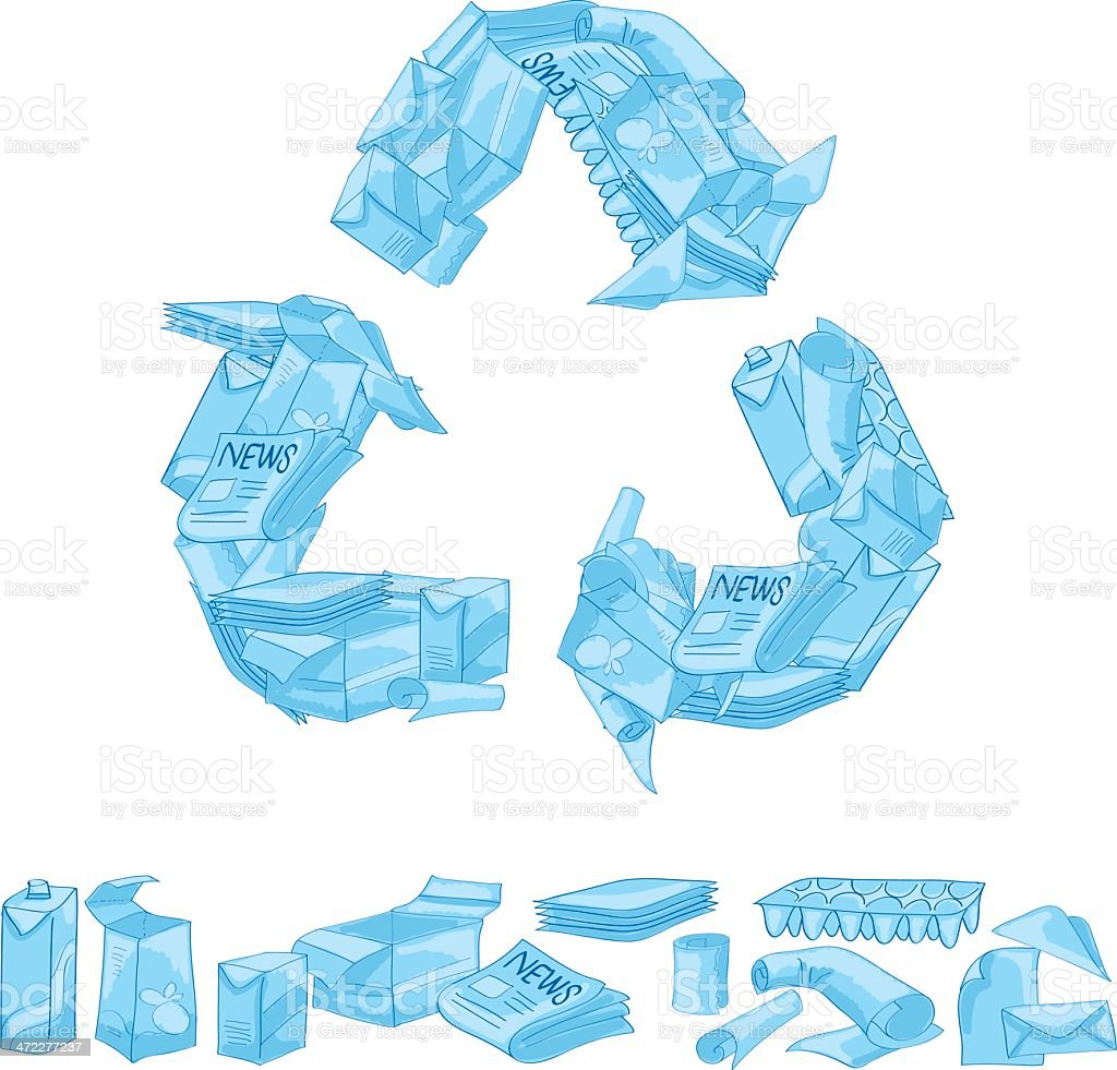 Paper Recycle royalty-free stock vector art