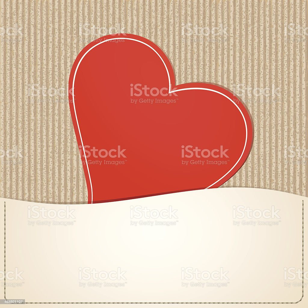 Paper red heart royalty-free stock vector art