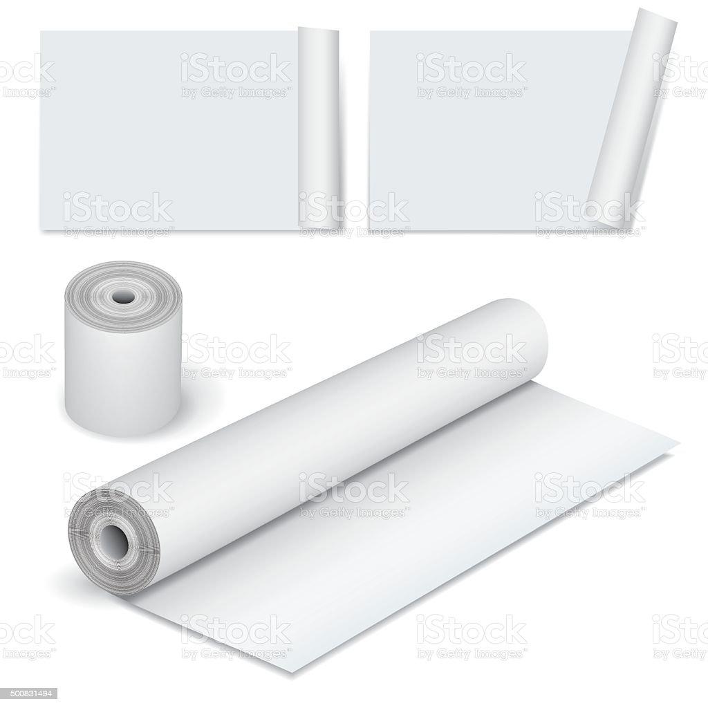 Paper roll vector art illustration