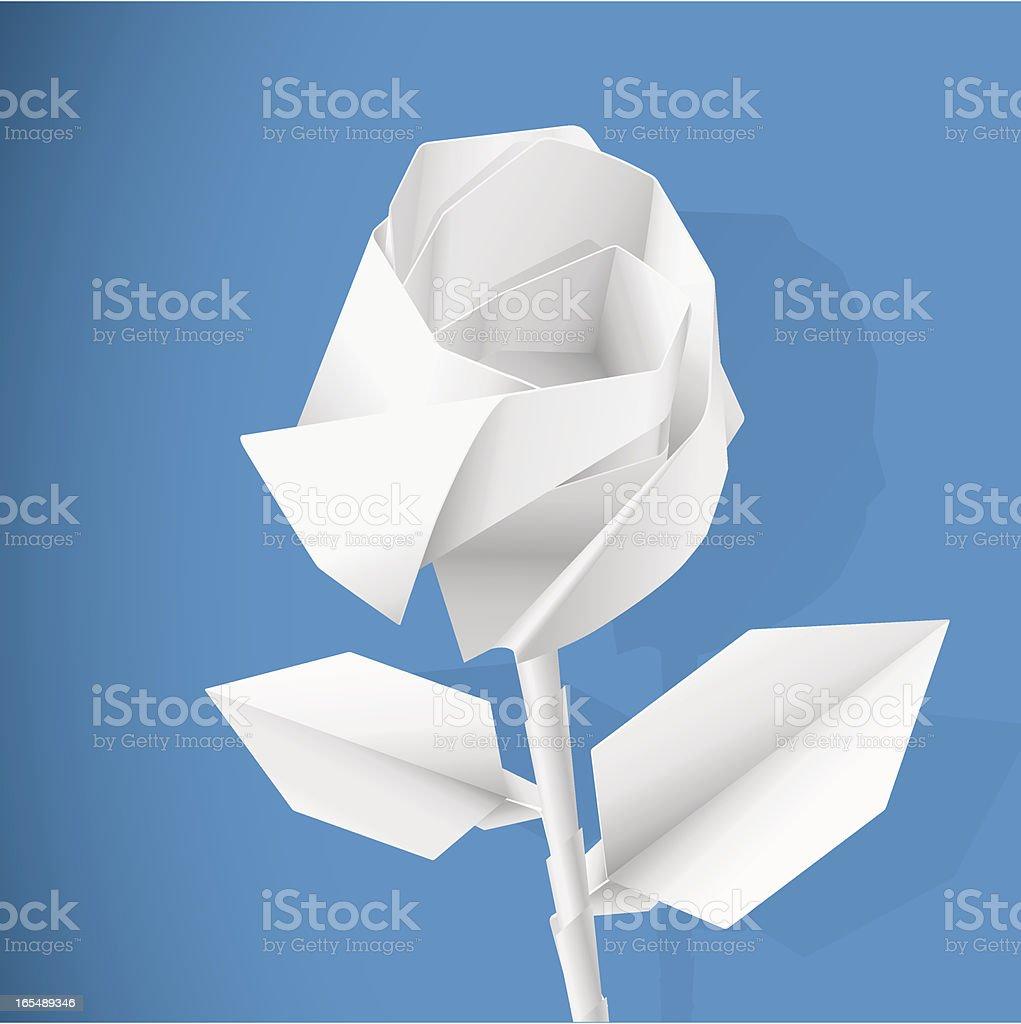Paper rose royalty-free stock vector art