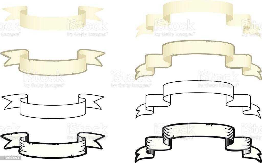 Paper Scroll Set royalty-free stock vector art