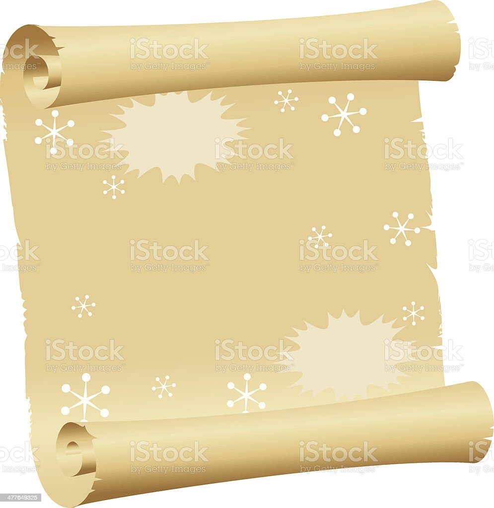 Paper Scroll royalty-free stock vector art