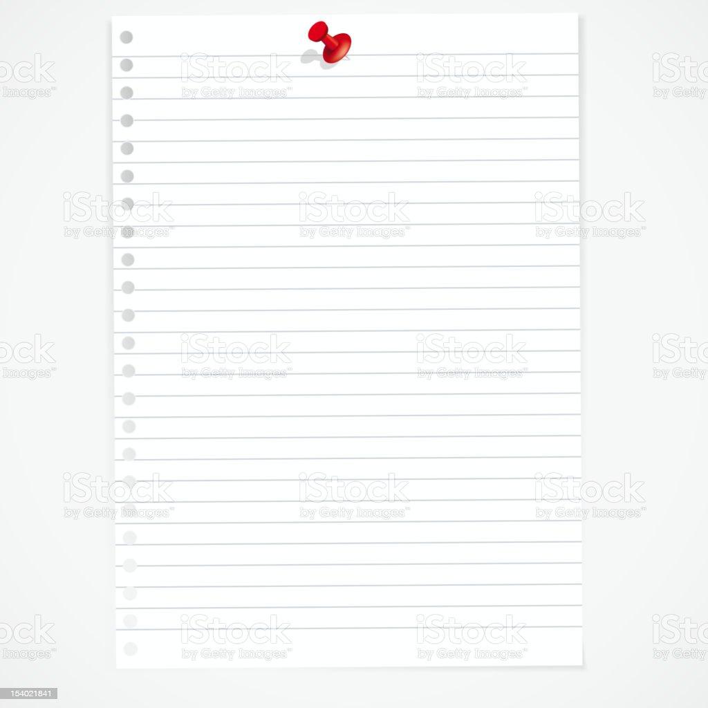 Paper sheet royalty-free stock vector art