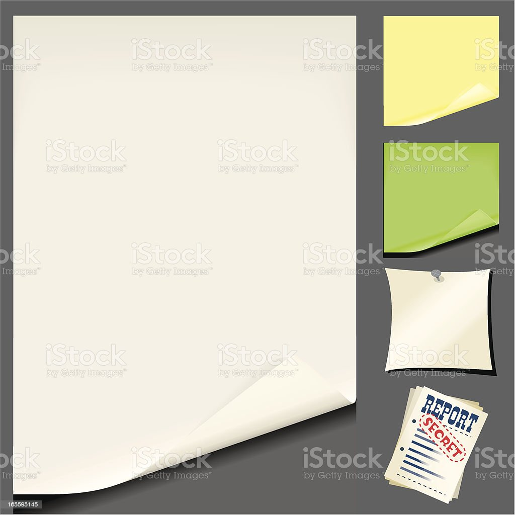 Paper Sheets royalty-free stock vector art