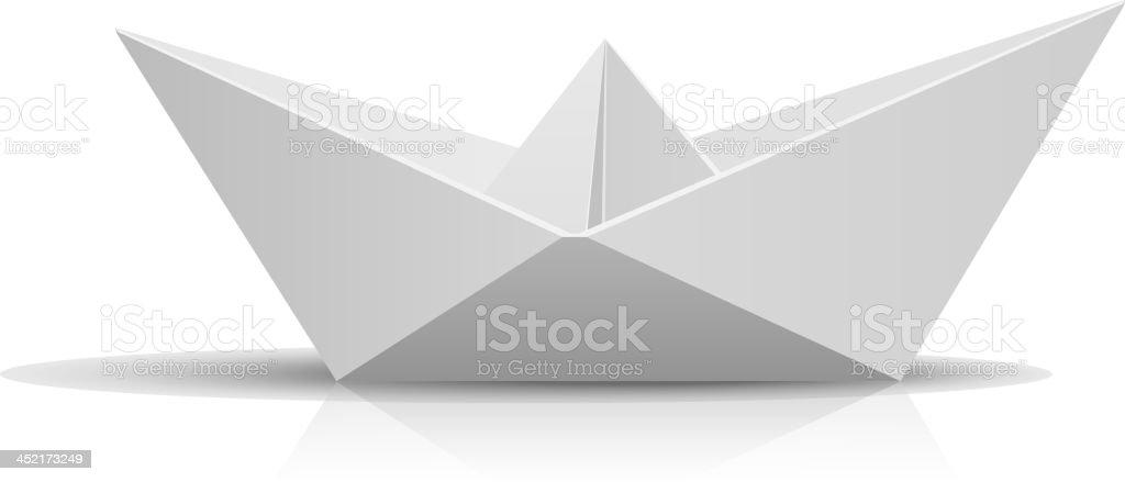 Paper Ship vector art illustration