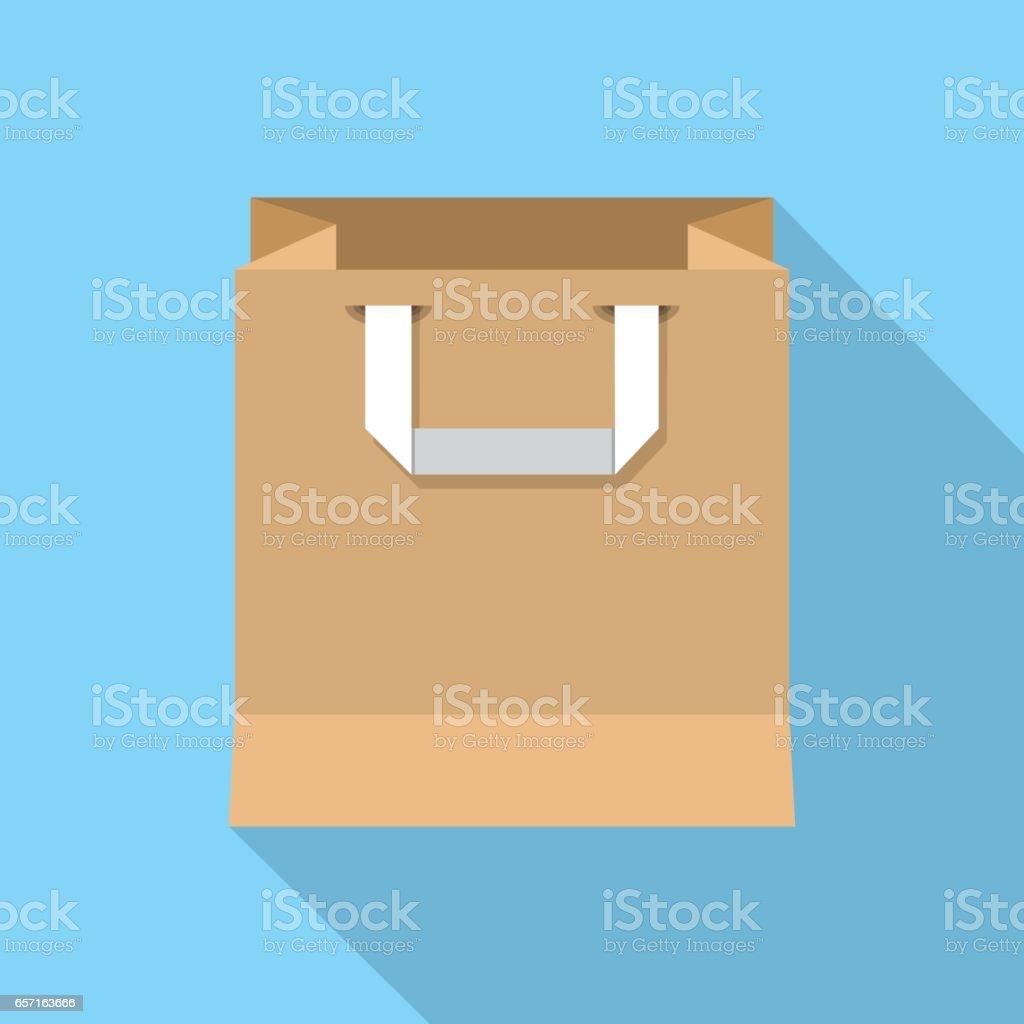 Paper Shopping bag  isolated. vector art illustration