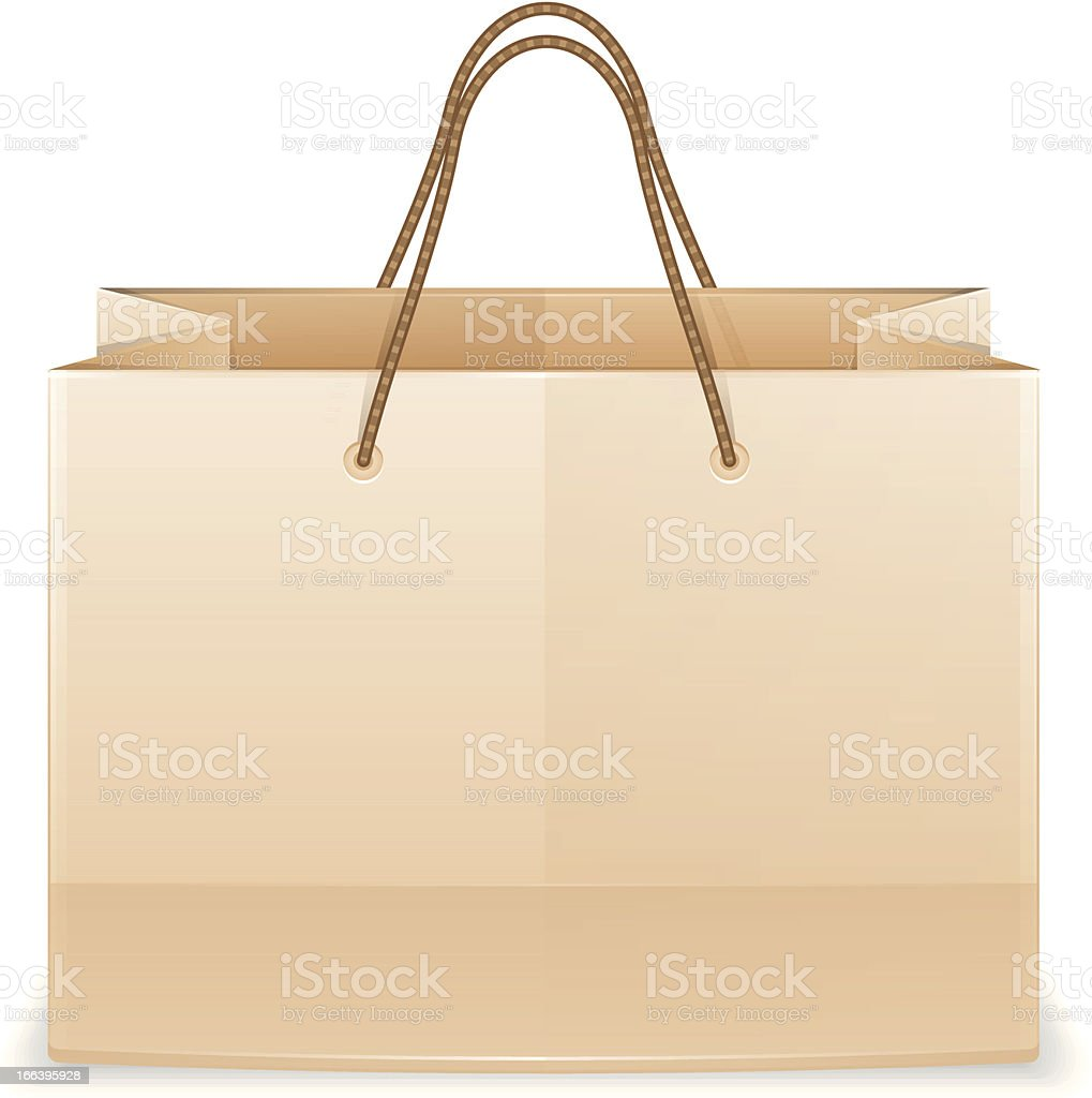 Paper Shopping Bag royalty-free stock vector art