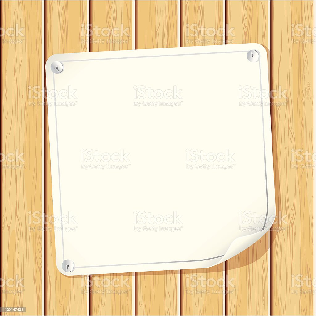 Paper Sign royalty-free stock vector art