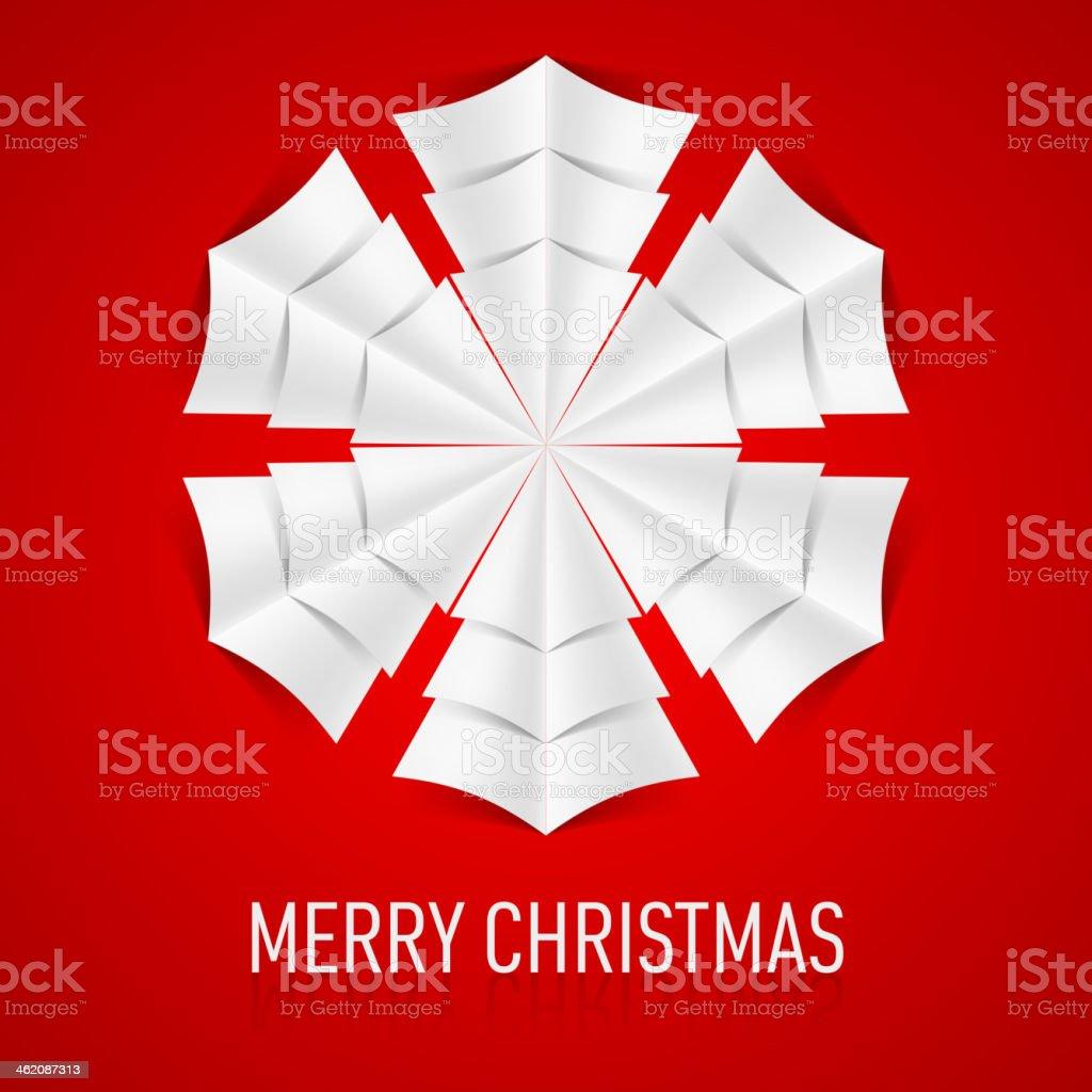 Paper snowflake. vector art illustration