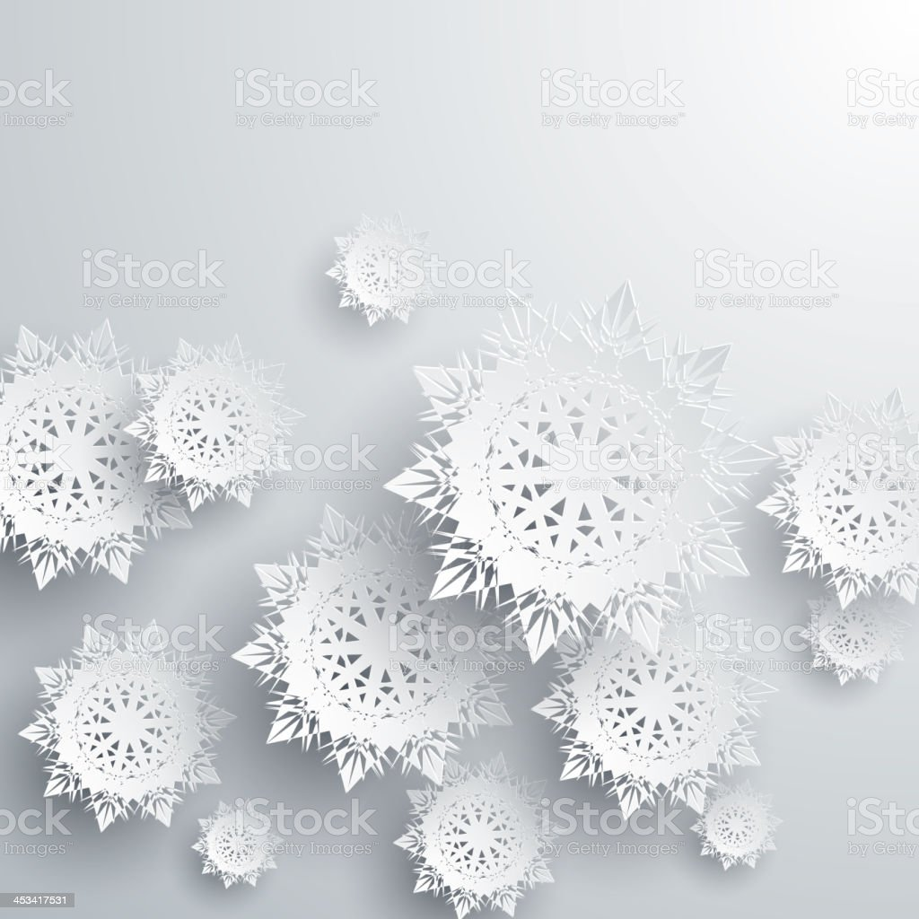 Paper snowflakes vector art illustration