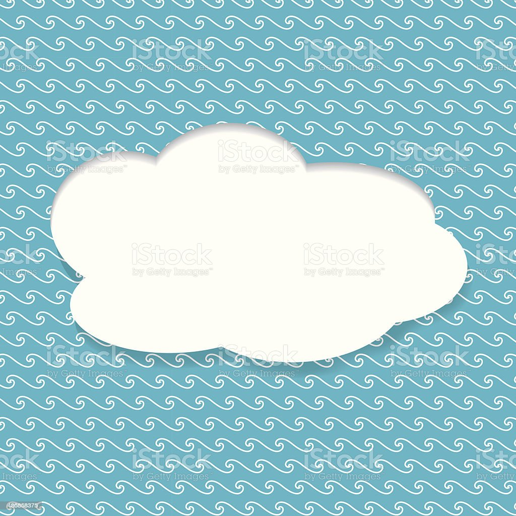 Paper Speech Bubble royalty-free stock vector art