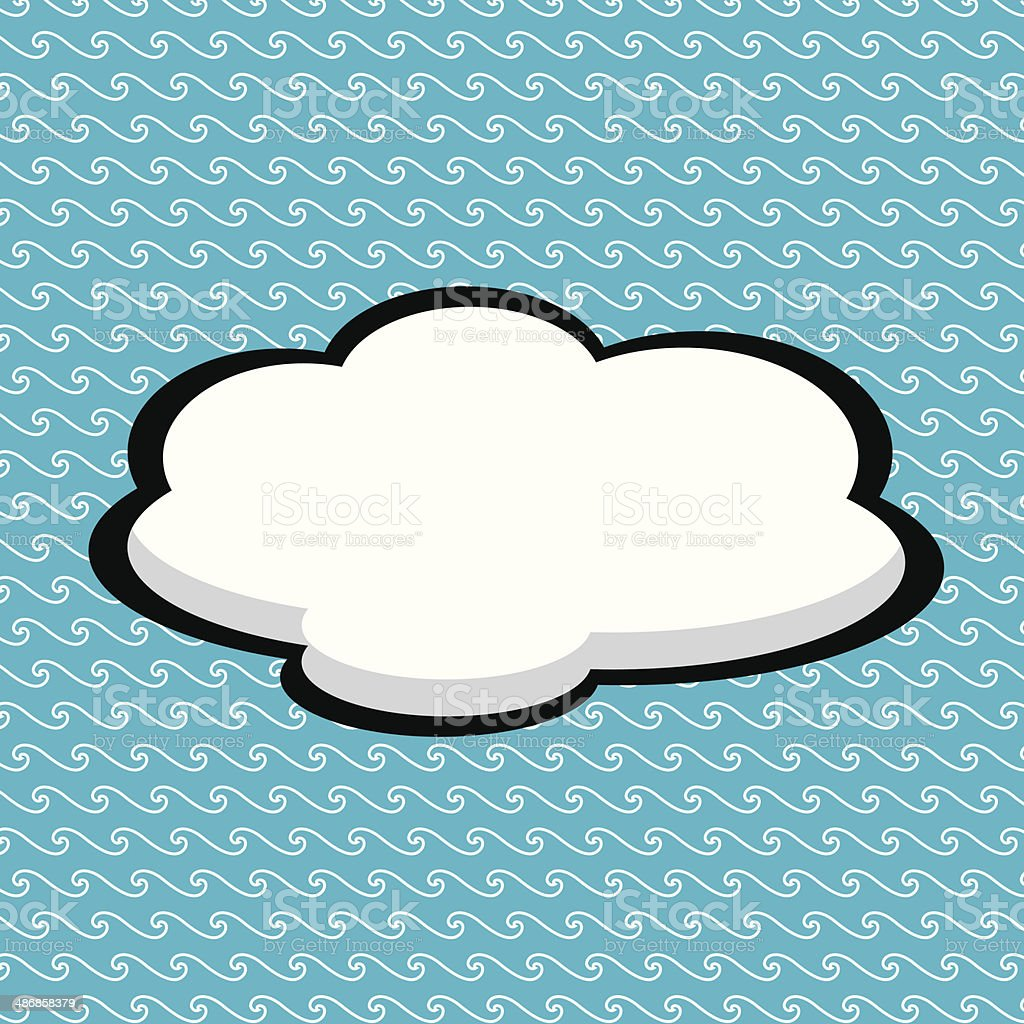 Paper Speech Bubble royalty-free stock vector art