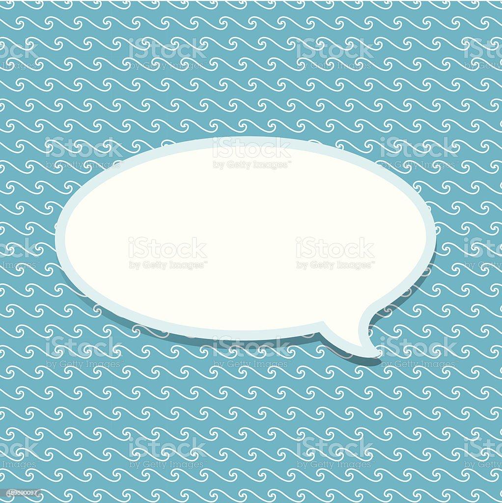 Paper Speech Bubble, Vector Illustration royalty-free stock vector art