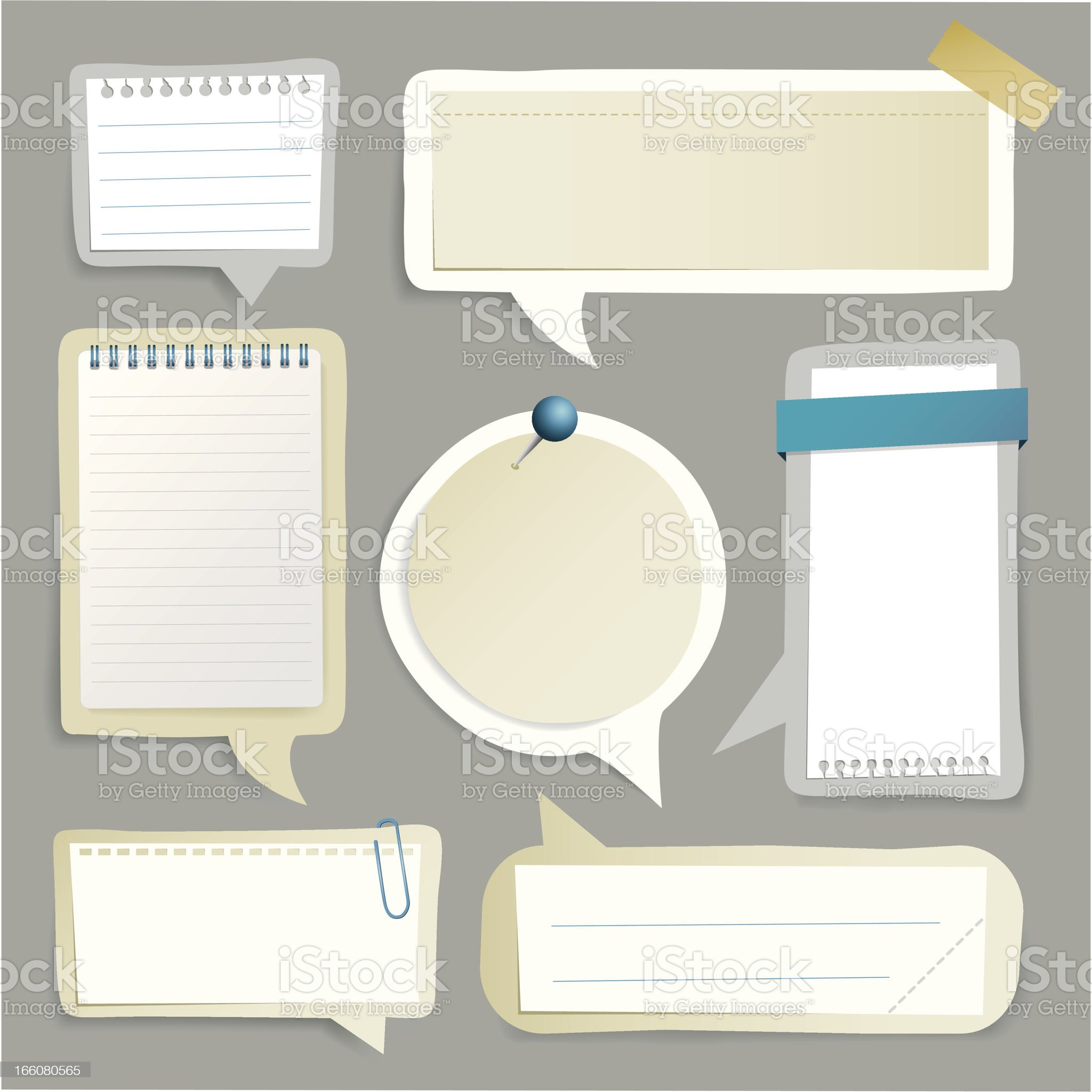 Paper speech bubbles royalty-free stock vector art