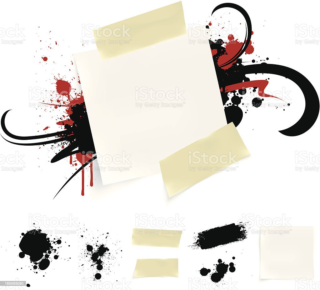 Paper splatter royalty-free stock vector art