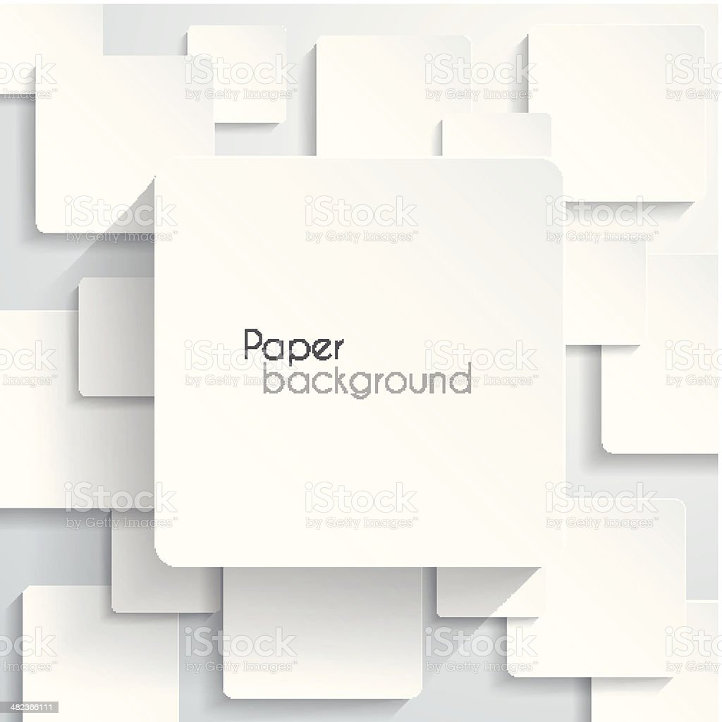 Paper square Background royalty-free stock vector art