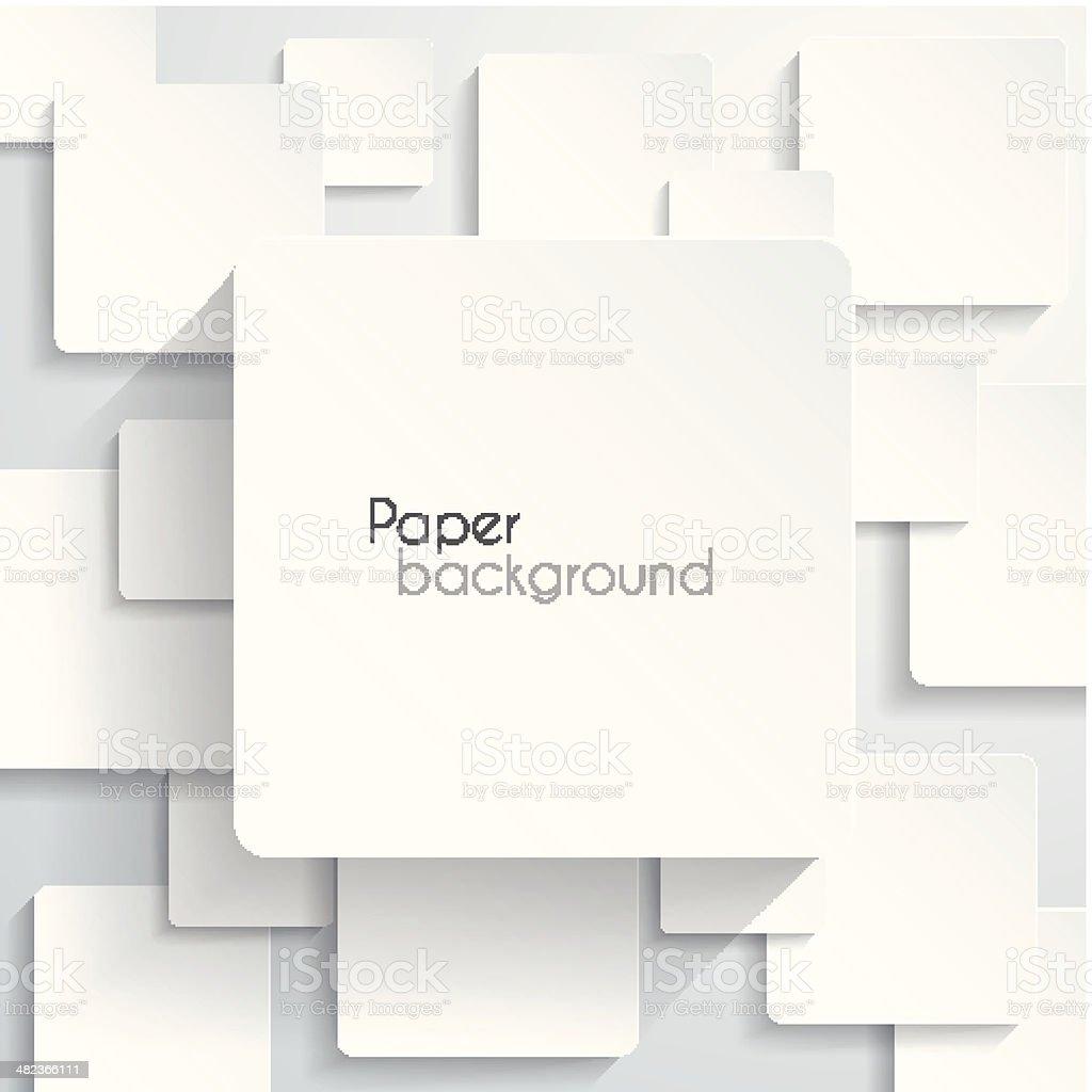 Paper square Background vector art illustration