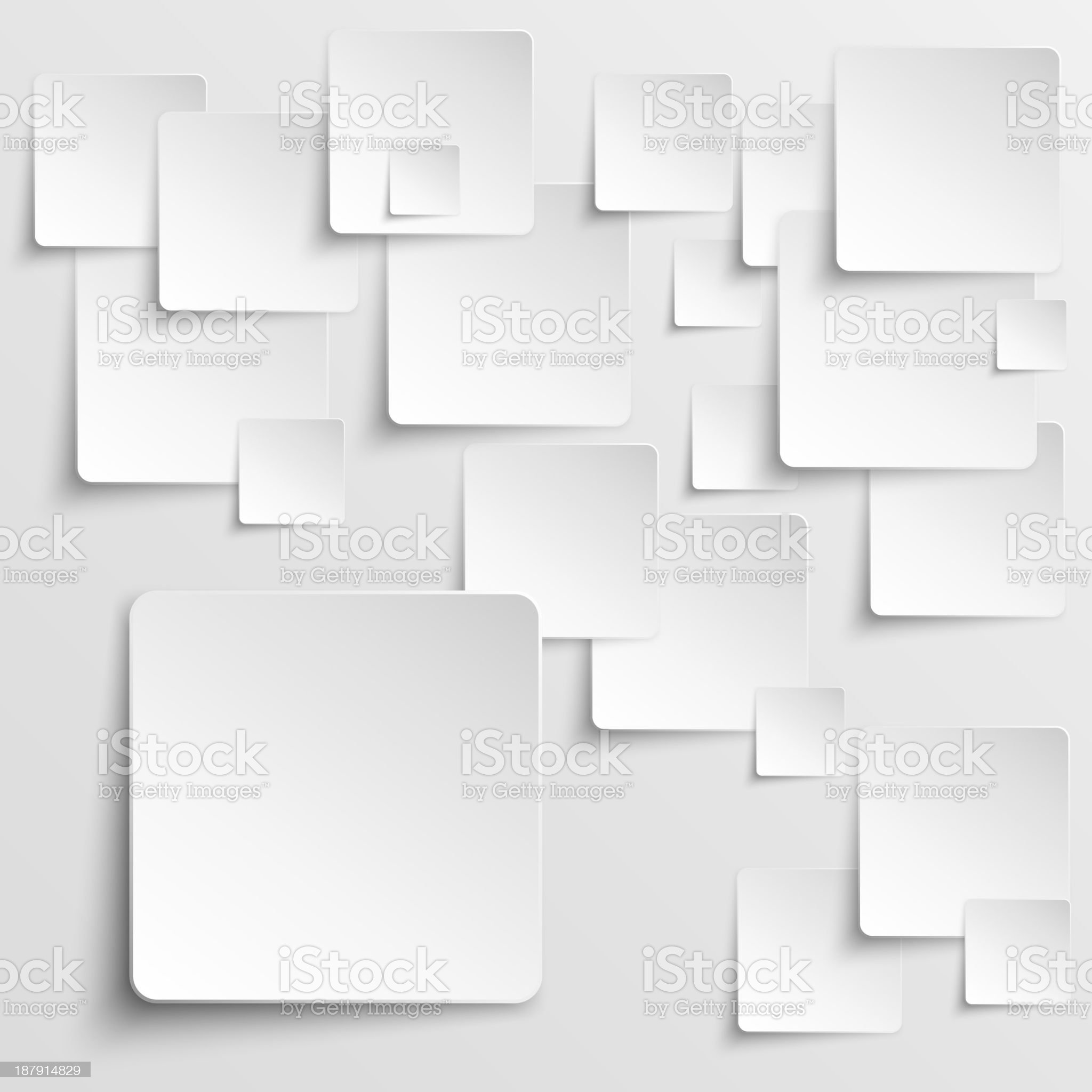 Paper squares abstract vector background royalty-free stock vector art