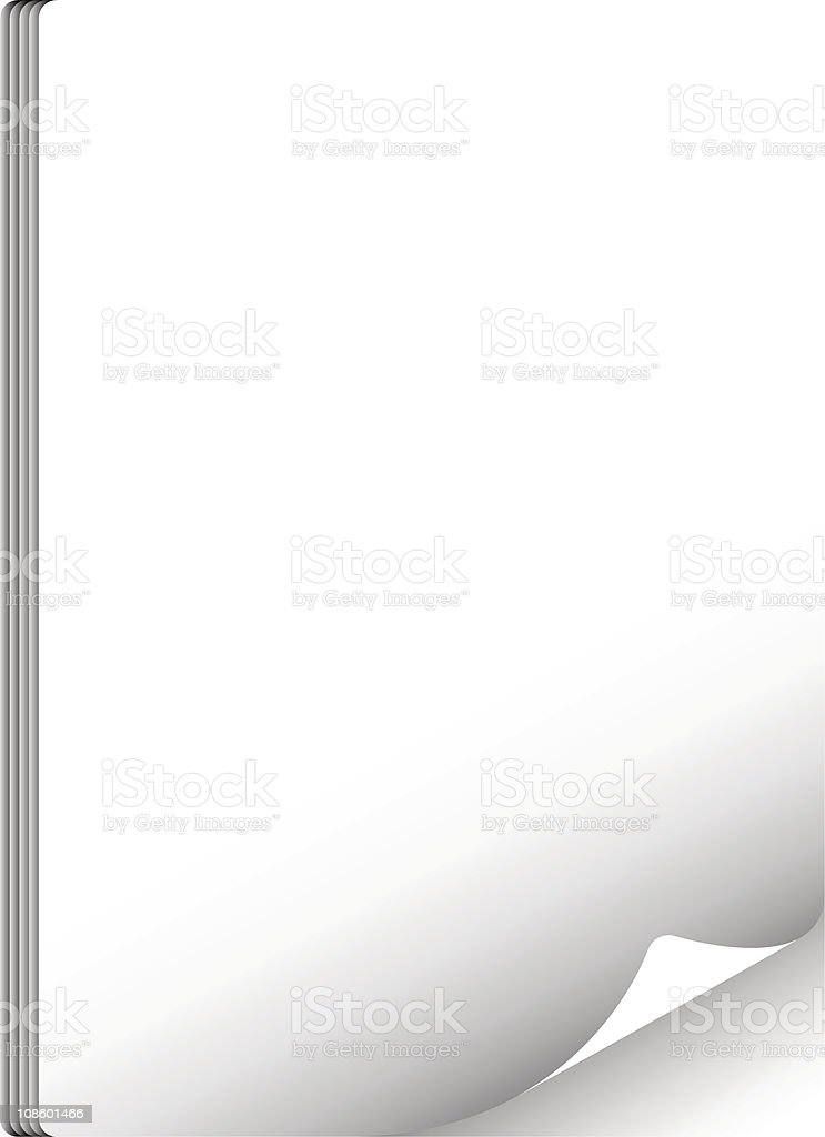 Paper stack royalty-free stock vector art