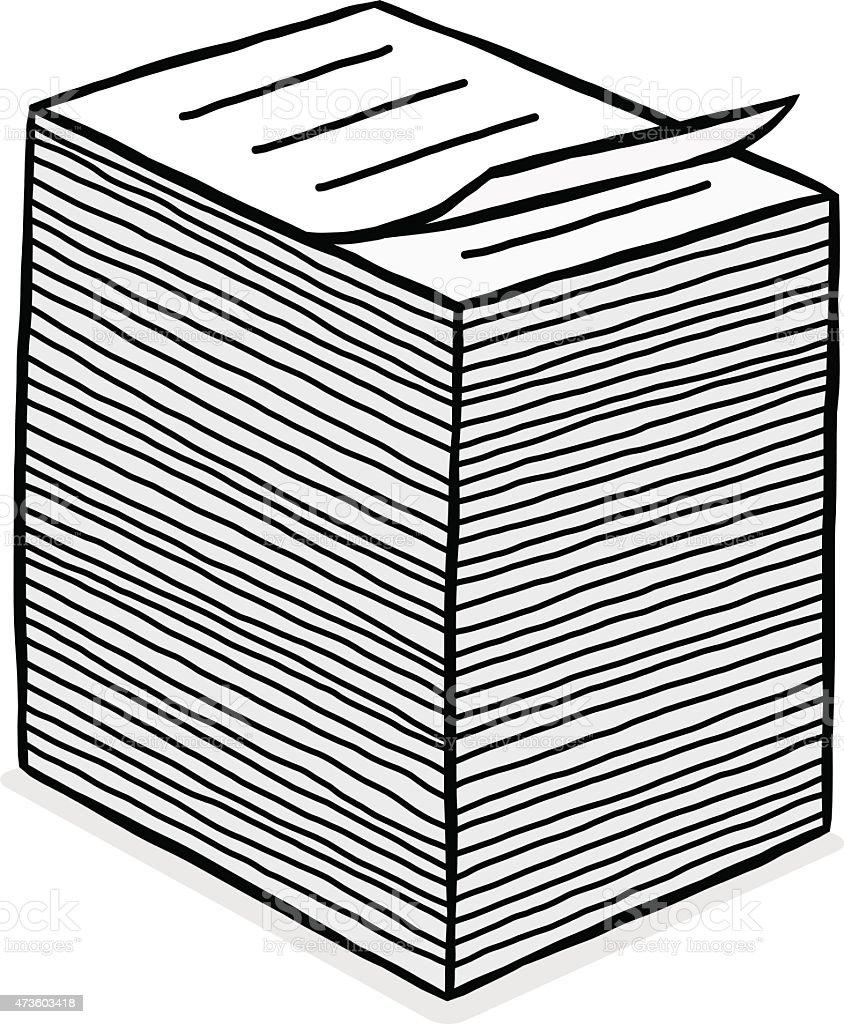 paper stack vector art illustration