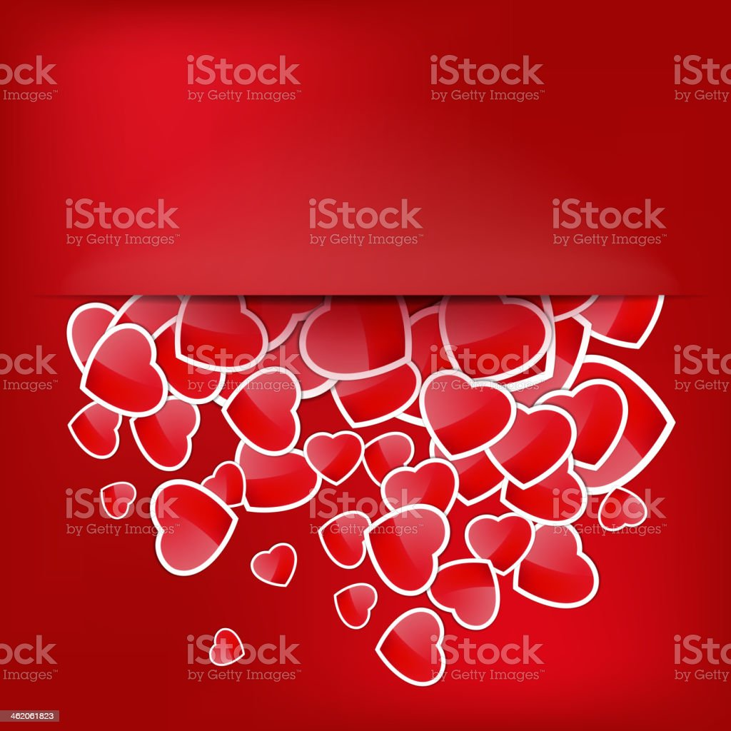 Paper Sticker Valentine's day. EPS 10 royalty-free stock vector art