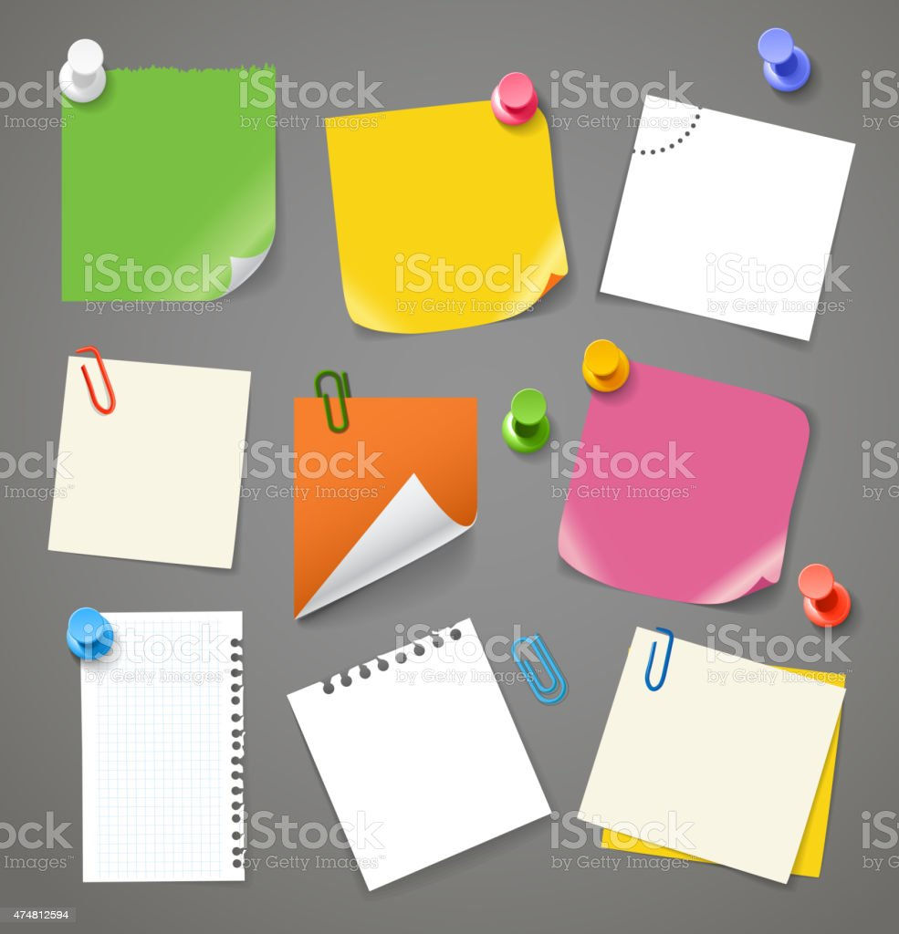 Paper stickers clip-art vector art illustration