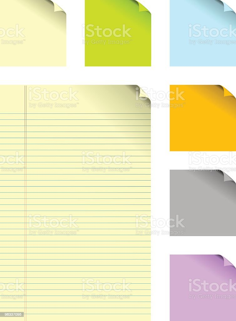 Paper Stickes ~ Vector royalty-free stock vector art