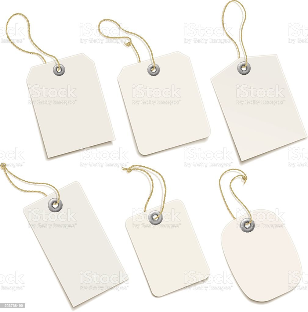 Paper Tags vector art illustration