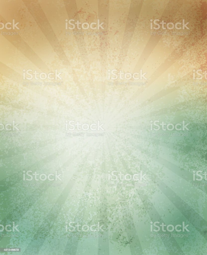 Paper texture background with lines in green and orange vector art illustration